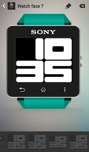 Big Rounded Digital Watch Face