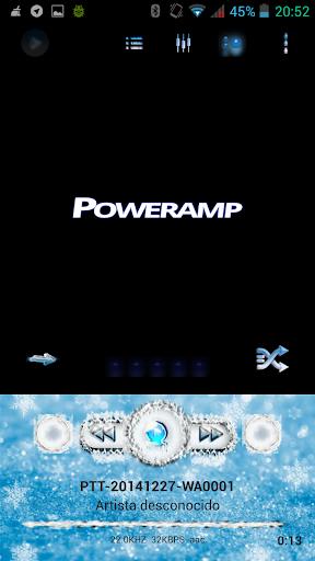 Poweramp Skin Blue Glacial