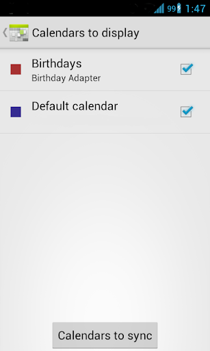 Birthday Calendar Adapter Free