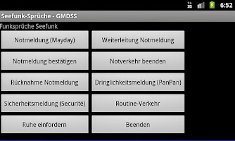 Screenshot of Radio Messages (GMDSS)