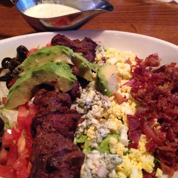 Steak Cobb salad, request no blue cheese!