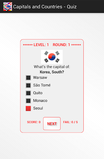 Capitals and Countries - Quiz