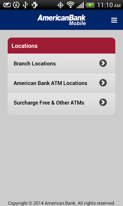 American Bank- screenshot