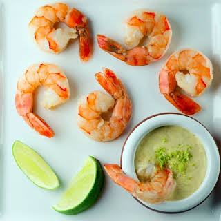Shrimp with Lime Dipping Sauce.