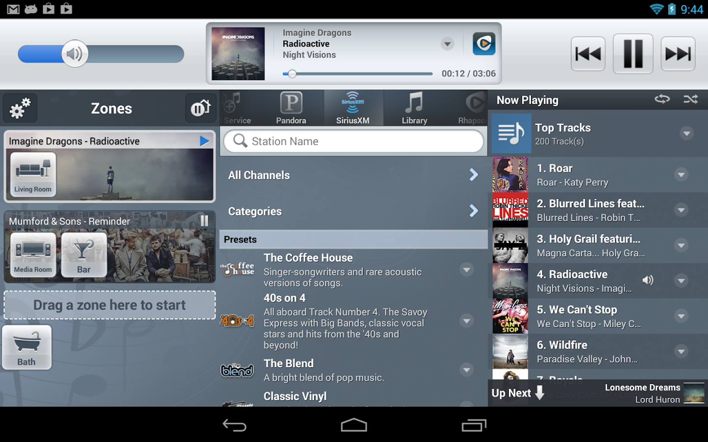 NuVo Player- screenshot