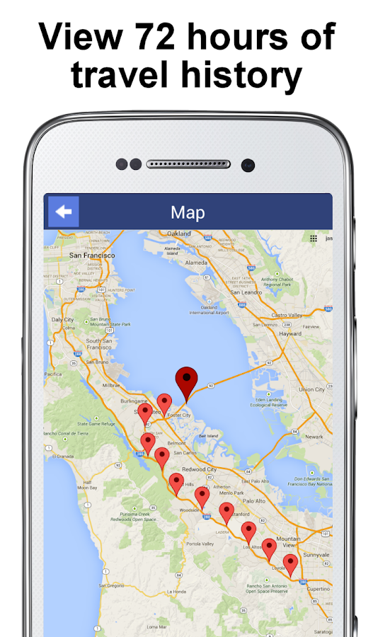 PhoneTracker with FriendMapper – Screenshot