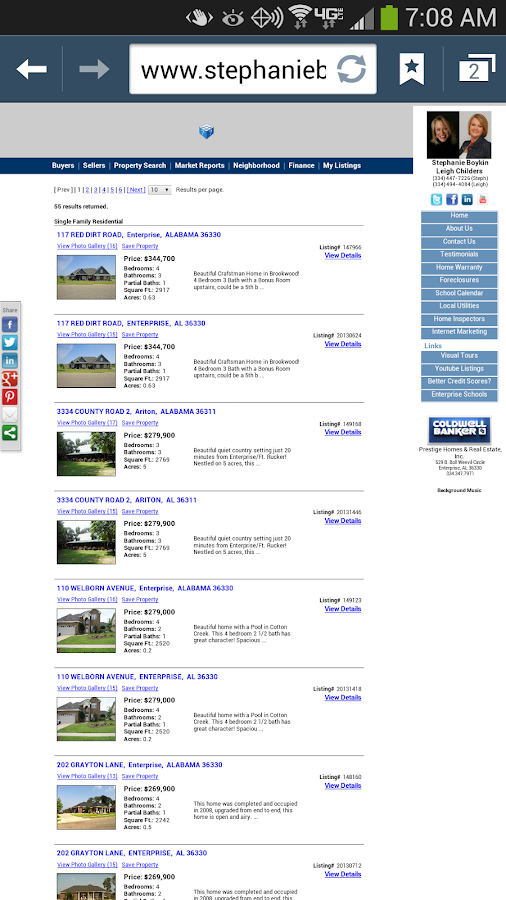 Enterprise Homes For Sale - screenshot