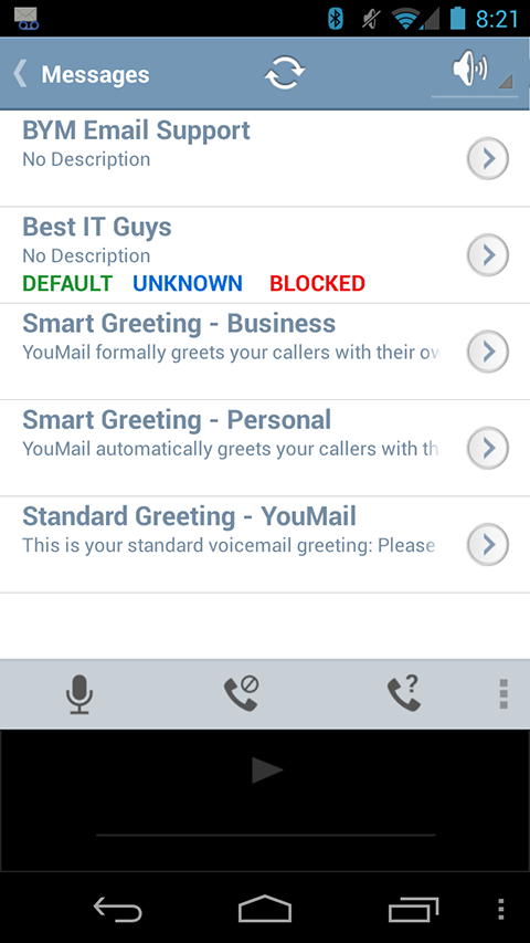 Better YouMail - screenshot
