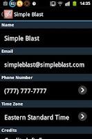 Screenshot of SimpleBlast