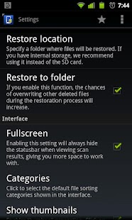 [Undelete for Root Users] Screenshot 2