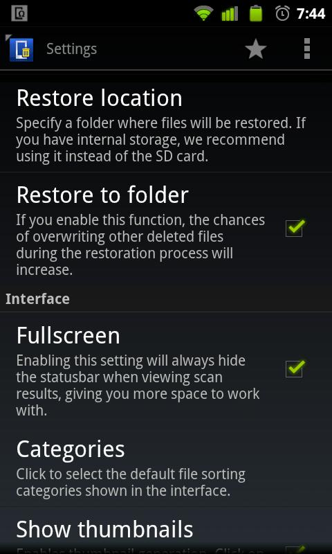 Undelete for Root Users - screenshot
