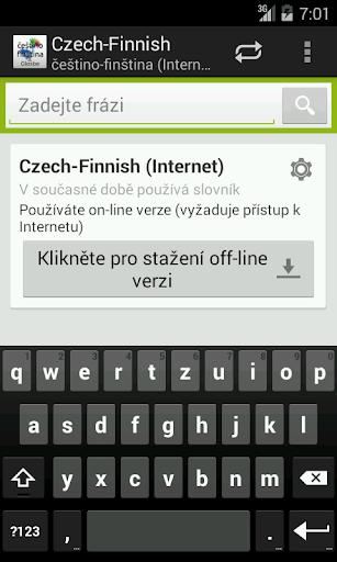 Češtino-Finština slovník