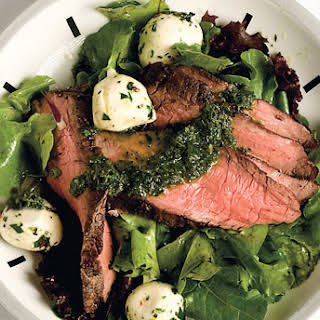 Flank Steak Salad with Chimichurri Dressing.