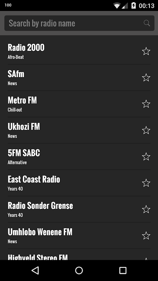Radio South Africa- screenshot