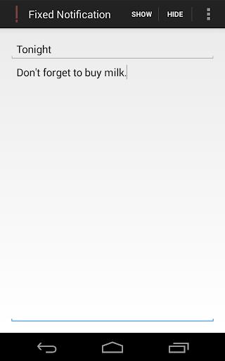 Fixed Notification
