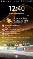 Screenshot of Clock Calendar Widget +