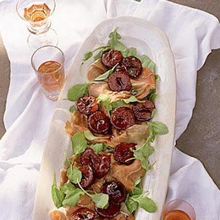 Prosciutto-Arugula Salad with Warm Plums