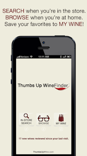 Thumbs Up WineFinder App Free - screenshot thumbnail