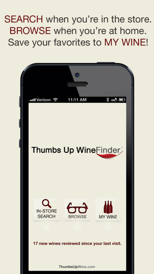 Thumbs Up WineFinder App Free - screenshot