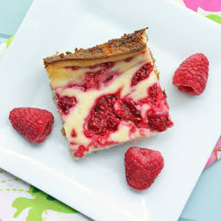 Low Carb Raspberry Cheesecake Bars.