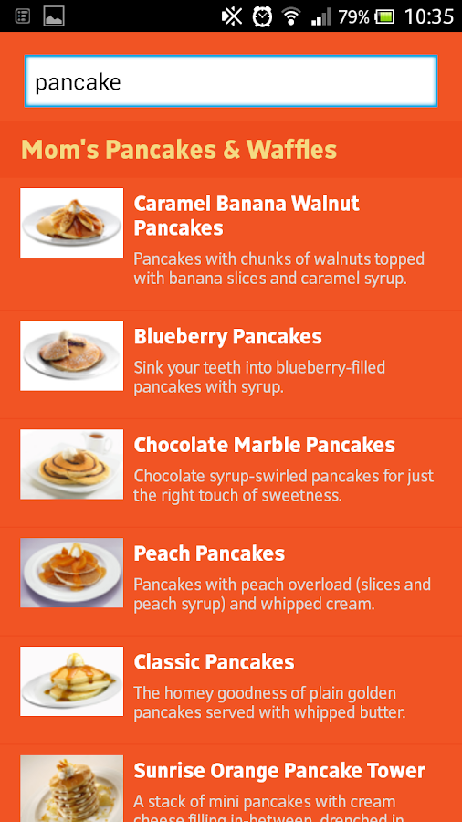 Pancake House APP- screenshot