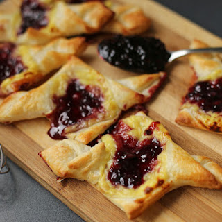 Blueberry and Custard Danish