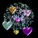 3D lovely hearts logo