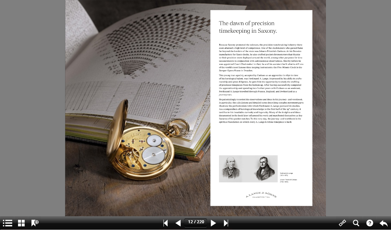 A. Lange & Söhne Catalog - screenshot