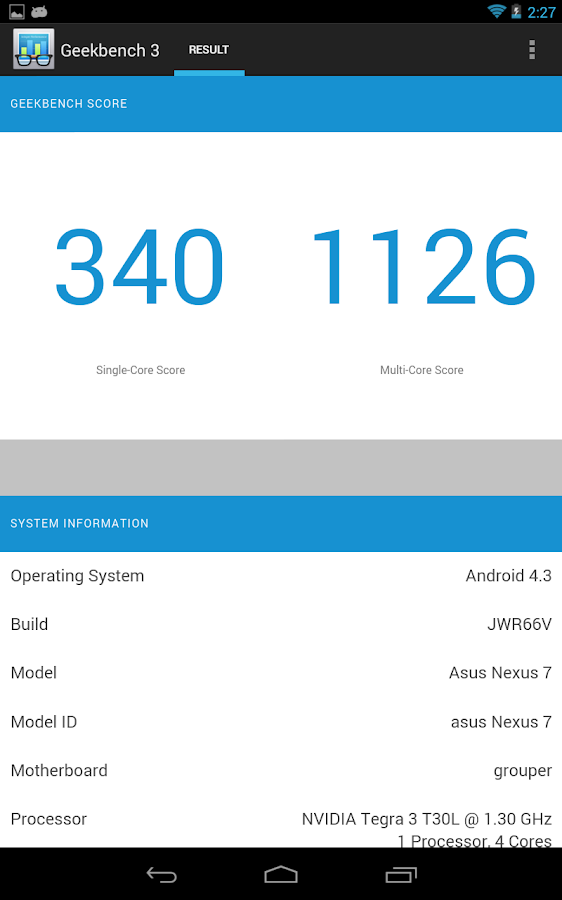 Geekbench 3 - screenshot