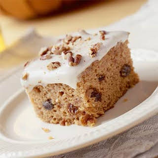 Applesauce Spice Cake With Cream Cheese Icing.