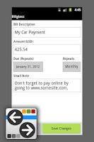 Screenshot of Billglanz Bill Tracker