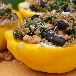 Quinoa and Kale Stuffed Starburst Squash.