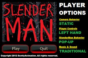 Screenshot of Slender Man RETRO