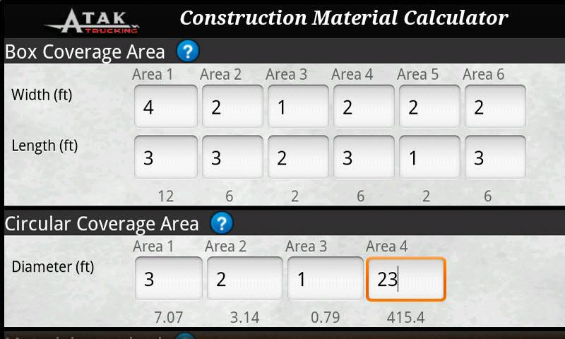 Cubic yard calculator android apps on google play for Soil removal calculator