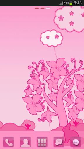 玩個人化App|GO桌面EX主題粉紅色的貓免費|APP試玩