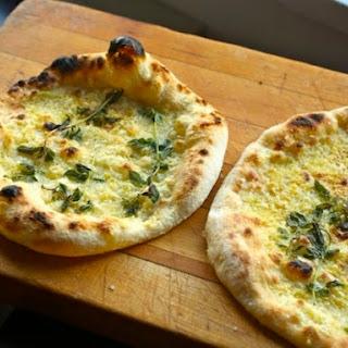 Cold Fermented Fontina, Parmigiano, and Oregano Pizza