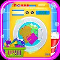 Laundry Girl Dirty Cloth Wash icon