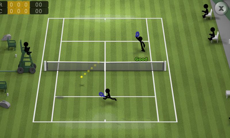 Stickman Tennis screenshot #2