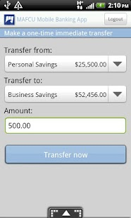 MAFCU Mobile Banking App - screenshot thumbnail