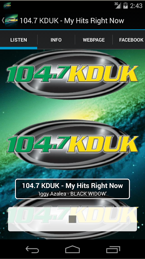 104.7 KDUK - My Hits Right Now- screenshot