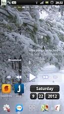 تحميل ثيم الثلج الرائع Snowfall