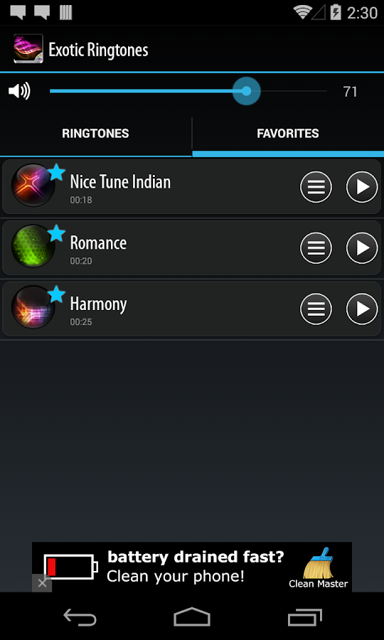Exotic Ringtones- screenshot