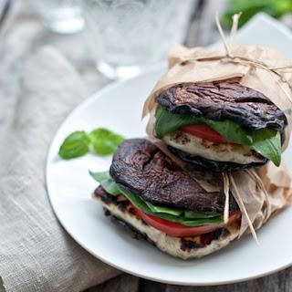 Portabella and Halloumi 'Burgers'