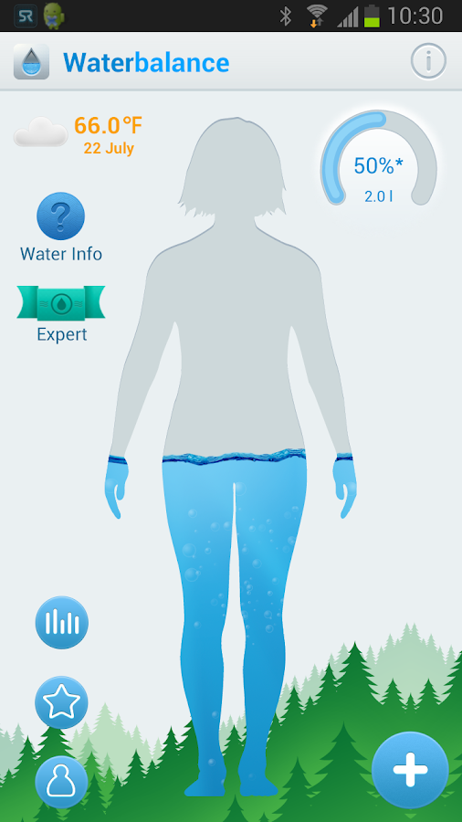 Screenshots of Waterbalance for Android