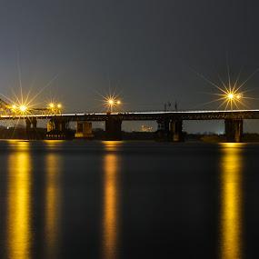 Long Bien Bridge by Dong Bui - Landscapes Travel ( hanoi, long exposure, long bien, vietnam, bridge, #GARYFONGPETS, #SHOWUSYOURPETS, city, night )