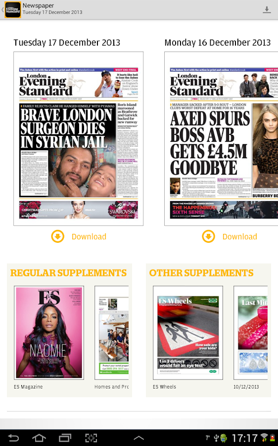 London Evening Standard - screenshot