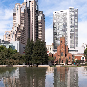 old and new by GUILLAUME FUNFROCK - Buildings & Architecture Public & Historical ( water, new, old, church, windows, san francrisco,  )
