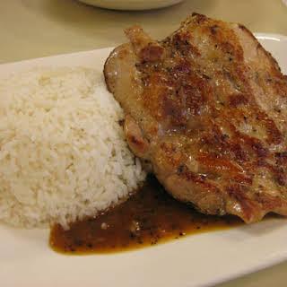 Chicken Pepper Steak.
