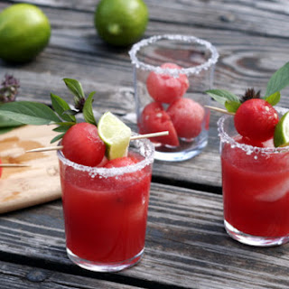 Thai Basil Watermelon Margaritas.
