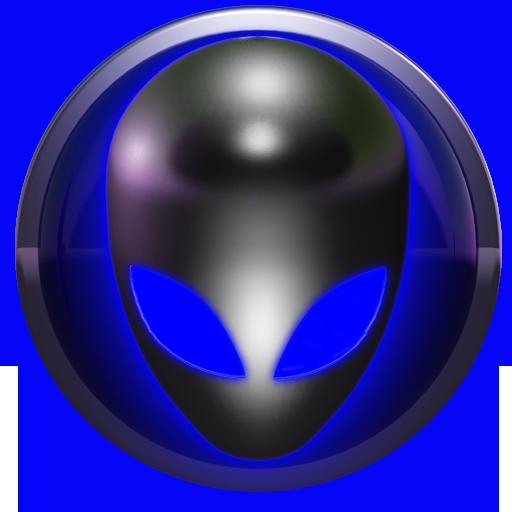 poweramp skin alien blue